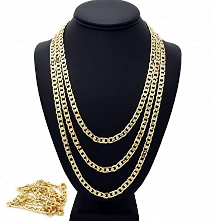 f8e39dacdfd03 Amazon.com: Florance jones Iced Out Figaro Link Chain Necklace 8mm ...