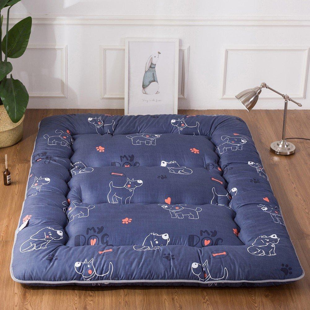 GX&XD Thicken Collapsible Tatami floor mat,Folding mattress Floor lounger cover Floor mattress Floor Tatami mattress Mat-G 90x200cm(35x79inch)