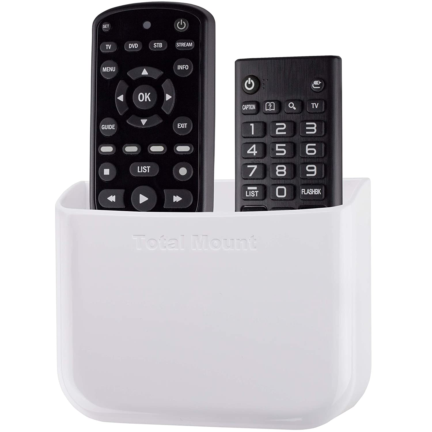 Eliminates Need to Drill Holes in Your Wall TotalMount Hole-Free Remote Holder for 2 or 3 Remotes - Black - Quantity 1