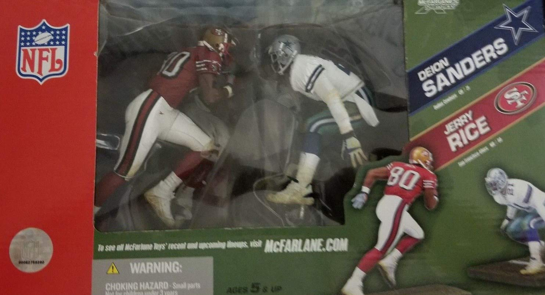 san francisco 17e26 41aa4 Amazon.com: McFarlane NFL SportsPicks Jerry Rice 49ers/Deion ...