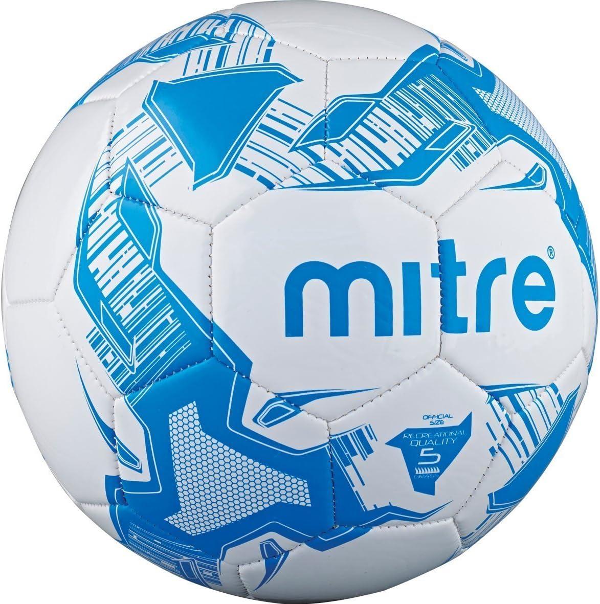 Mitre Balon de fútbol, Color Blanco - Blanco y Azul, tamaño Talla ...