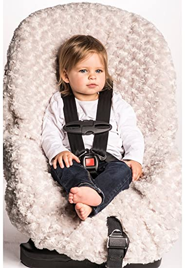Blankets And Beyond Rosette Baby Car Seat Cover Grey