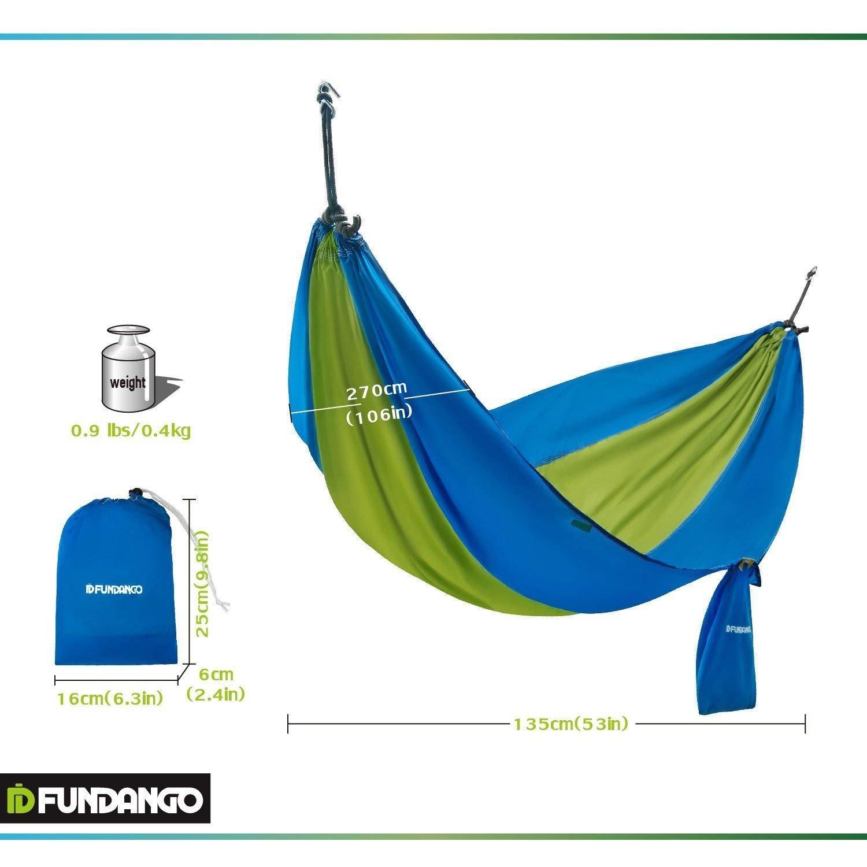FUNDANGO Ultra Light Durable Outdoor Patio Yard Deluxe Hammock