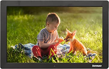 Kenuo 13 Inch Digital Photo Frame 1280 x 800 HD LED Screen with Calendar, MP3/Photo/Video Player with Remote Control Black