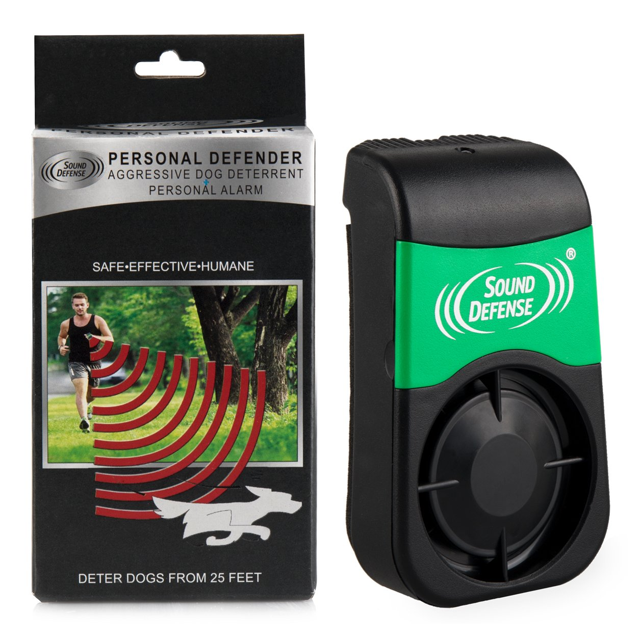 Sonic Dog Repellent & Deterrent Device: Electronic Outdoor Animal Pest Repeller for Personal Safety