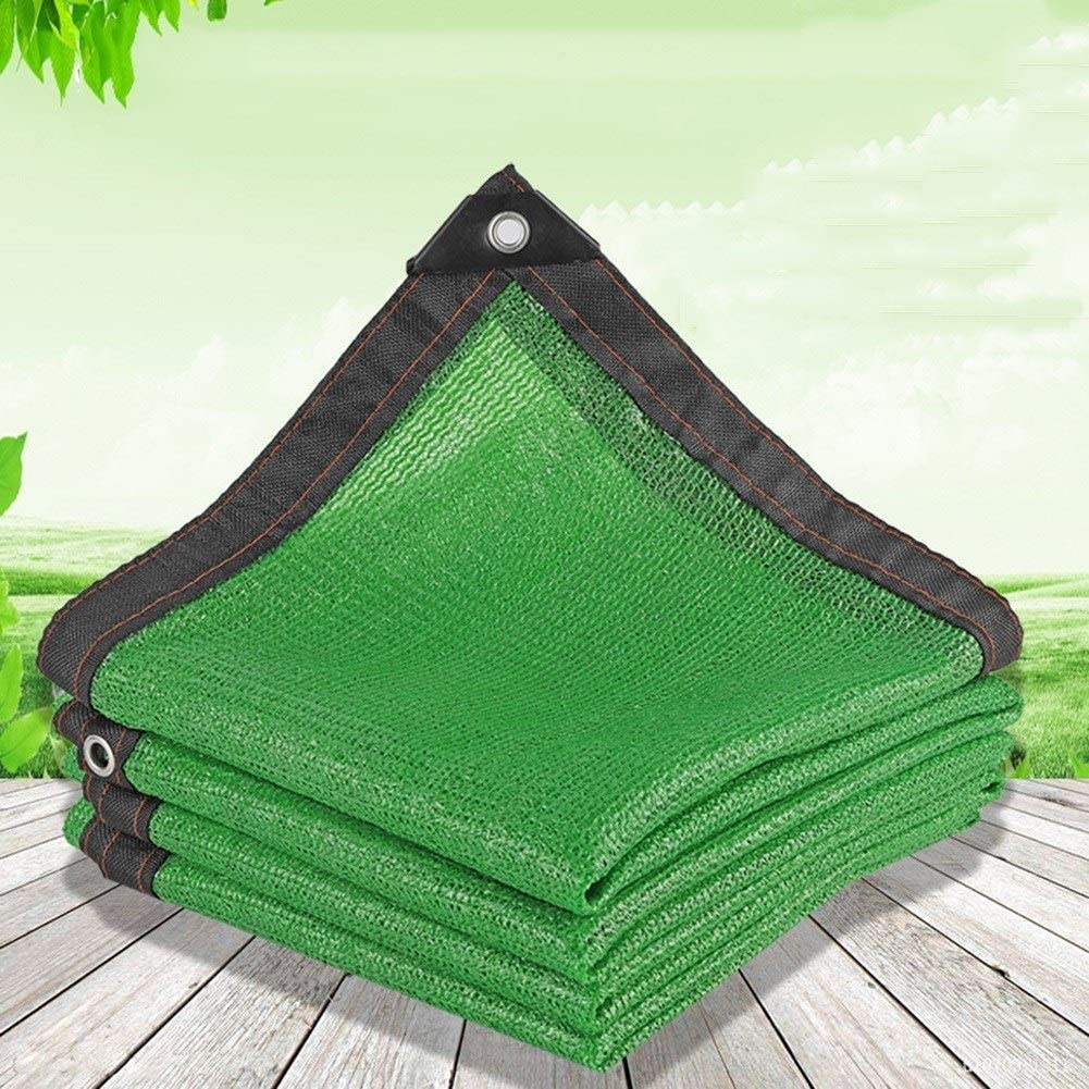 Color : Green, Size : 2x2m GGYMEI-Shading net Shade Cloth Sunscreen Anticorrosive Garden Covered In Polyethylene 21 Sizes