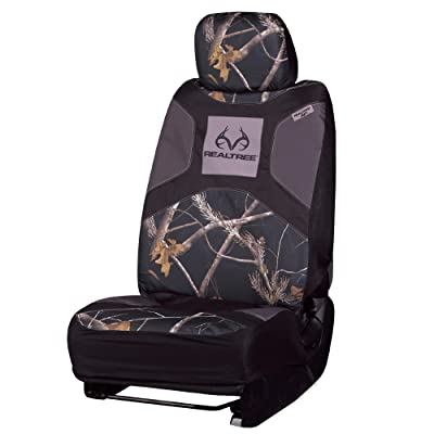 Realtree Camo Seat Cover| Low Back | AP Black | Single : Clothing