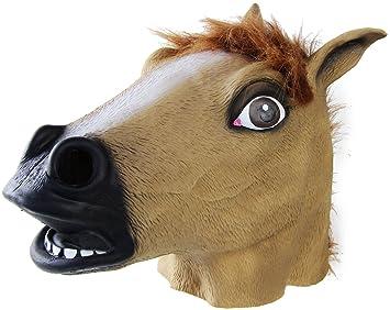 Máscara de látex de caballo traje de Halloween Cosplay ...
