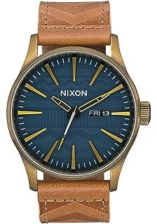Leder Erwachsene Unisex Analog Armband A1058 Quarz Uhr Nixon Mit byvY76fg