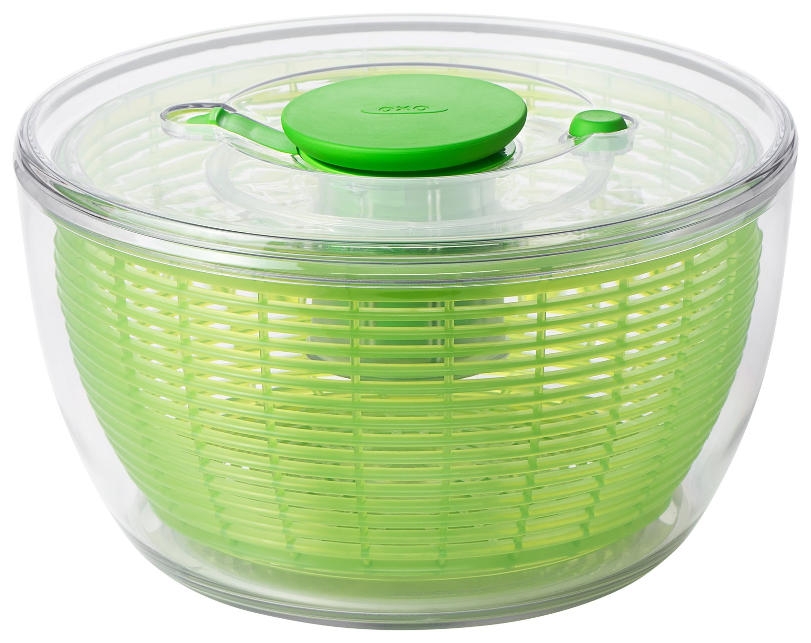 OXO Good Grips Salad Spinner 4.0 Green, Plastic, Green, 58.42 x 29.84 x 35.56 cm by OXO