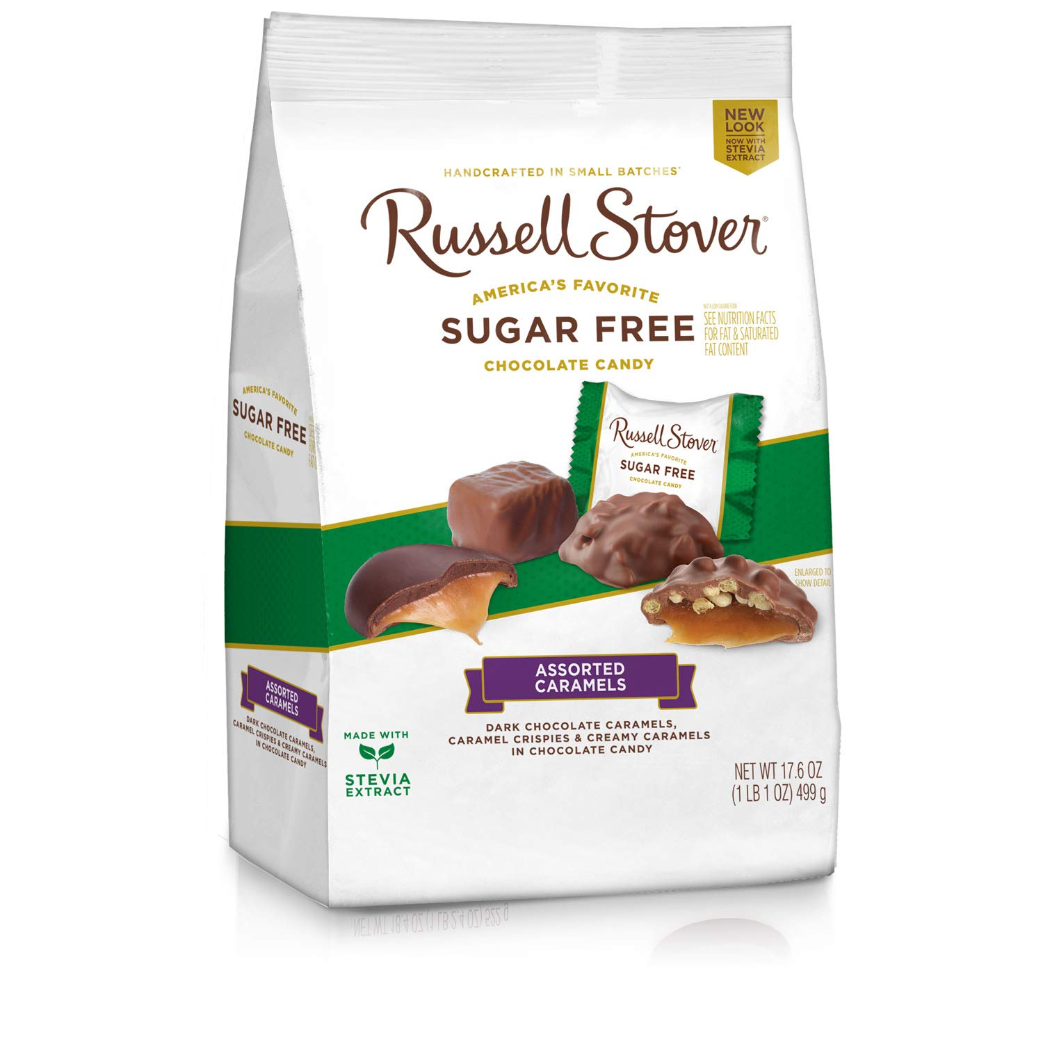 Russell Stover Sugar Free Caramel Mix, 17.6 Ounce Bag, 4 Count