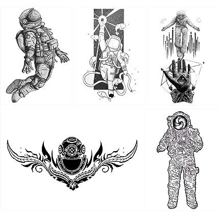 5 piezas astronauta espacio ultraterrestre amante patrón mujeres ...