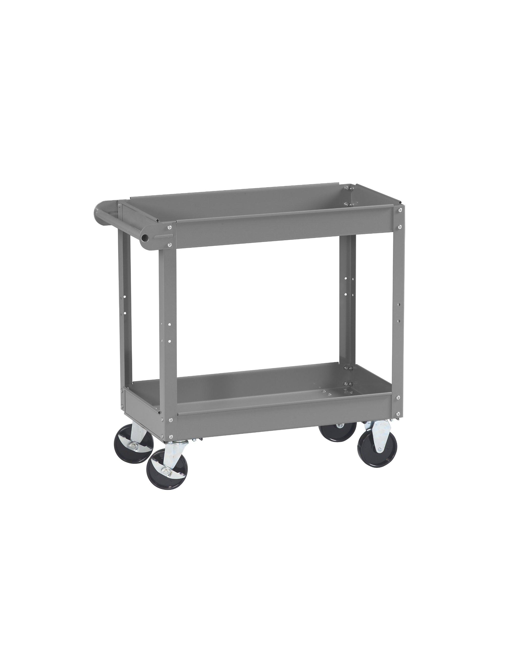 Tennsco SC-1630 Service Cart, 16'' Width, 32'' Height, 30'' Depth, 2 Shelves