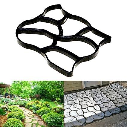 YLYP Molde De Hormigón De Jardín Irregular, Molde De Trayectoria De Plástico DIY, Pavimentación
