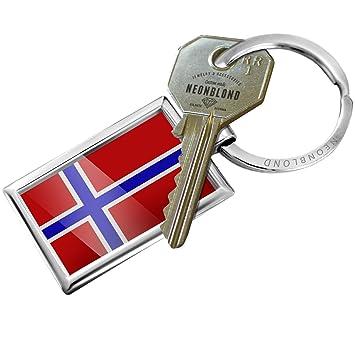 Amazon.com: Llavero bandera de Noruega – Neonblond: Automotive