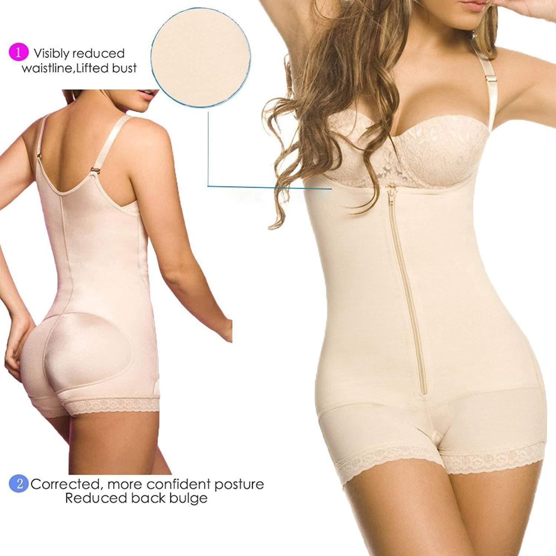e3904a725ad SHAPERX Women Seamless Firm Control Shapewear Faja Open Bust Bodysuit Body  Shaper at Amazon Women s Clothing store