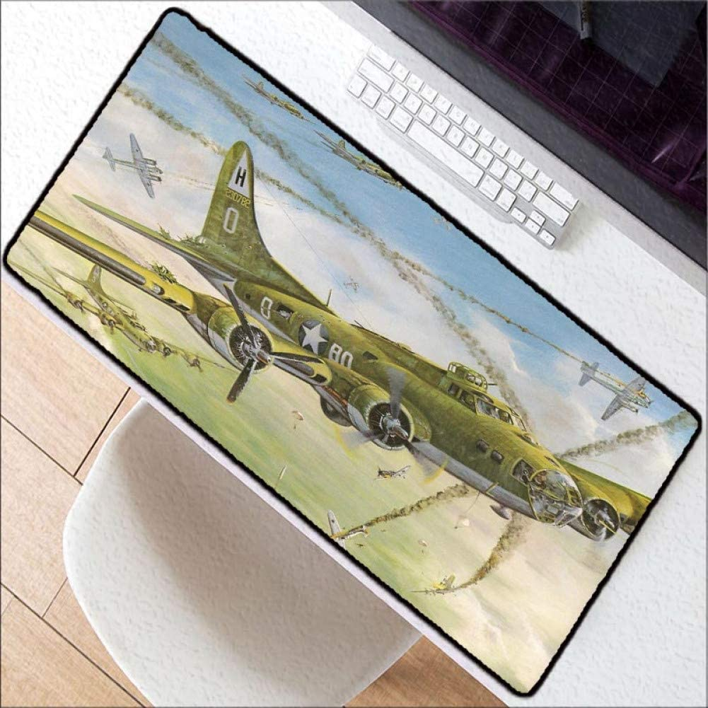 WHFDSBD Flying at Sunset High Speed New Large Lock Edge Mousepad Size for 30X80Cm and 40X90Cm Gaming Mousepads