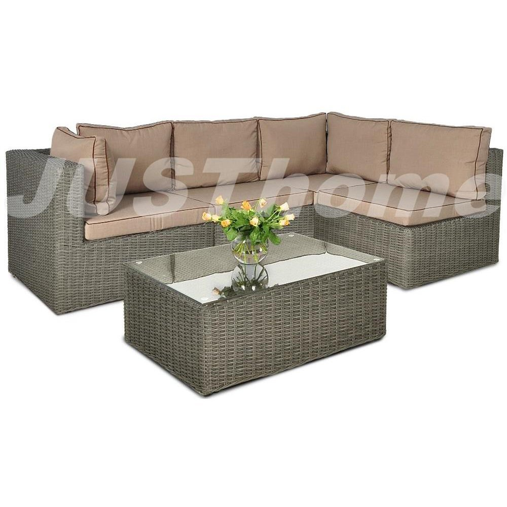 justhome loungem bel gartenm bel gartengarnitur rodos v 1x ecksofa 1x tisch grau online bestellen. Black Bedroom Furniture Sets. Home Design Ideas