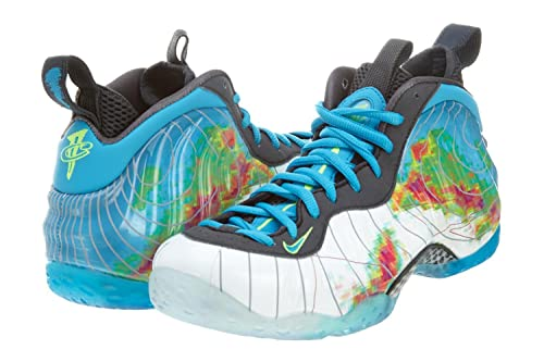 new products 0bd9f 3f567 ... wholesale amazon nike air foamposite one premium weatherman mens  basketball shoes white current blue flash lime