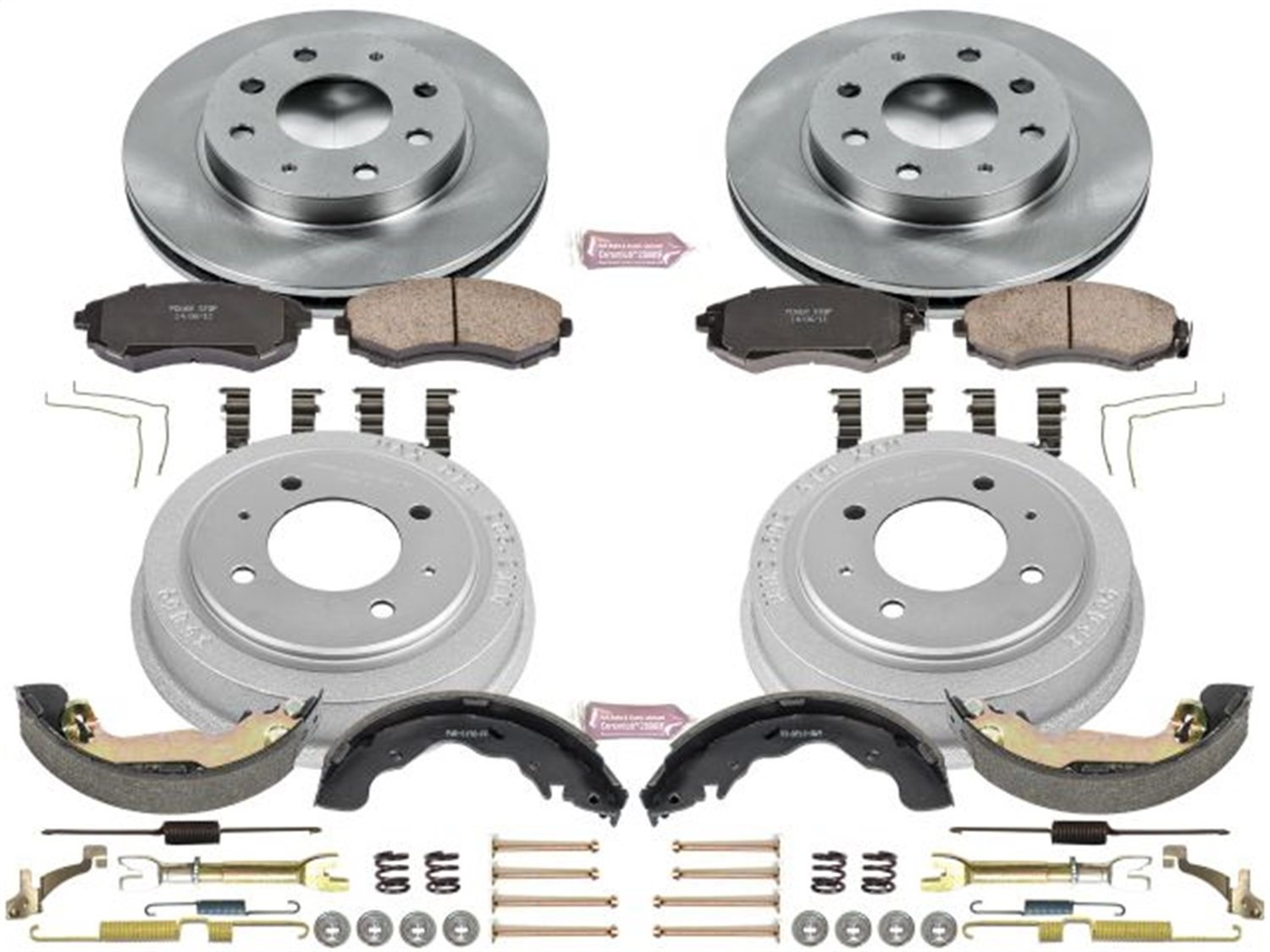 Rotor Drum and Shoe Kits Power Stop Front /& Rear KOE15157DK Autospecialty Daily Driver Pad