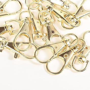 9f0c0bdea81b Amazon.co.jp: キーホルダー 35mm 5個 金 ナスカン リング カラビナ ...