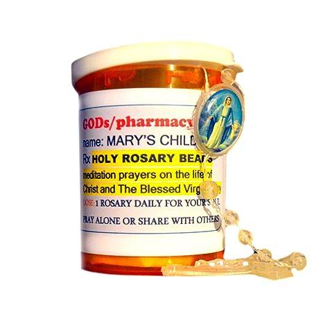 Amazon.com: Rosary Rx Virgin Mary: Wall Art
