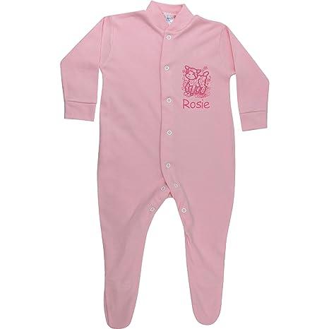 Traje de dormir personalizado para bebé niña rosa primavera cordero todo en uno rosa rosa Talla