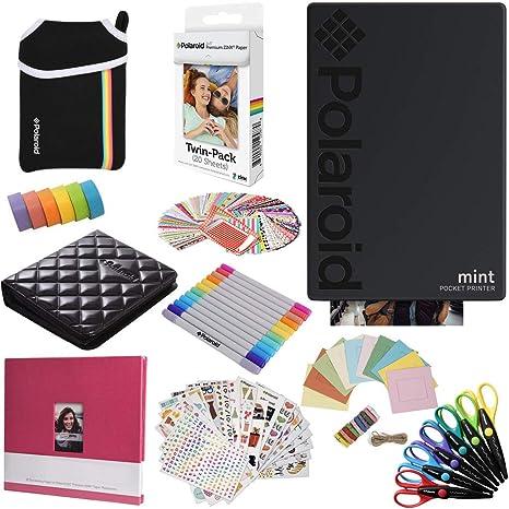 Polaroid Mint: Impresora instantánea (Negra) PAQ con Todo + 20 ...