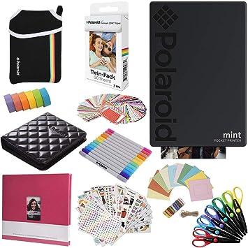 Polaroid Mint: Impresora instantánea (Negra) PAQ con Todo + ...