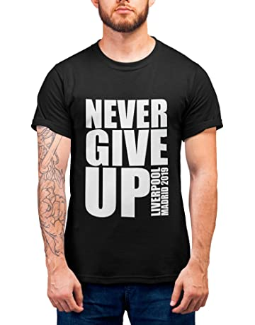 cf7b1dcf067 Liverpool Shirt - Never GIVE UP Mo Salah Message - Liverpool Champions  Final 2019 - Allez