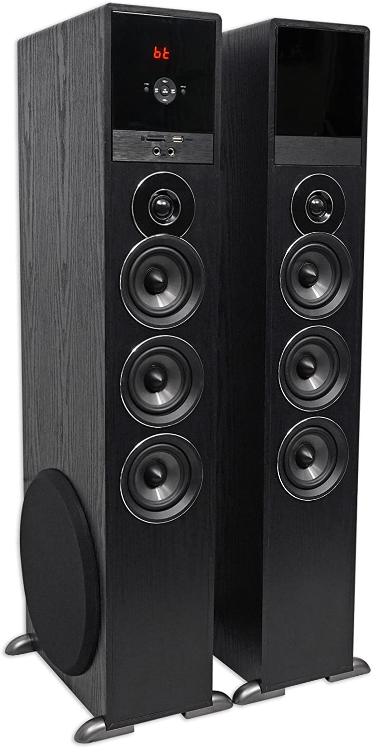 Tower Speaker Home Theater System w//Sub For Sharp Smart Television TV-Black