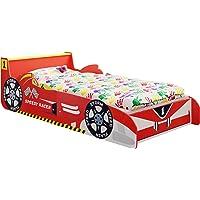 IB-Style - Lit Voiture Speedy Racer Junior pour Enfant - Formula 1 Rouge ou Bleu 140 x70 cm avec Aile Arrière comme Une Table de Chevet et Lattes de sommier Inclus - Chambre d'enfant