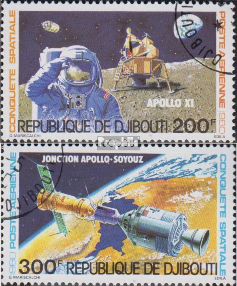 Francobolli per i Collezionisti Completa Edizione 1980 Spazio Prophila Collection Gibuti 276-277 Spazio