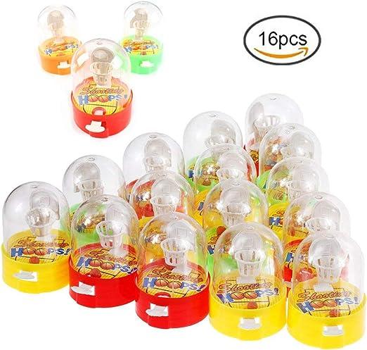 Ulikey Mini Baloncesto de Mesa Juego de Disparos, Mini Juguetes de Mano de Juego de Baloncesto Mini Baloncesto para Niños (Color Aleatorio): Amazon.es: Hogar
