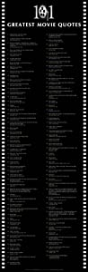 Culturenik 101 Greatest Movie Quotes Classic Film Lines Decorative Poster Print (Unframed 12 x 36 Print)