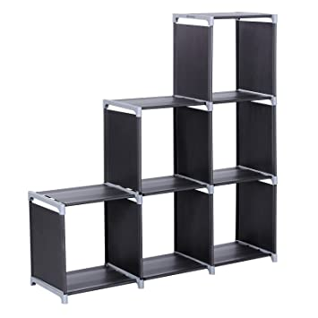 Superior SONGMICS 3 Tier Storage Cube Closet Organizer Shelf 6 Cube Cabinet Bookcase  Black ULSN63H