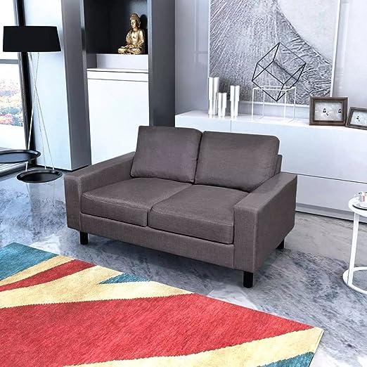 XINGLIEU Sofá Cama Gris Oscuro 2 Plazas,Sofa de Jardin Exterior,Sofa Reclinable,Cuero Artificial + Madera 150 x 87 x 81 cm: Amazon.es: Hogar