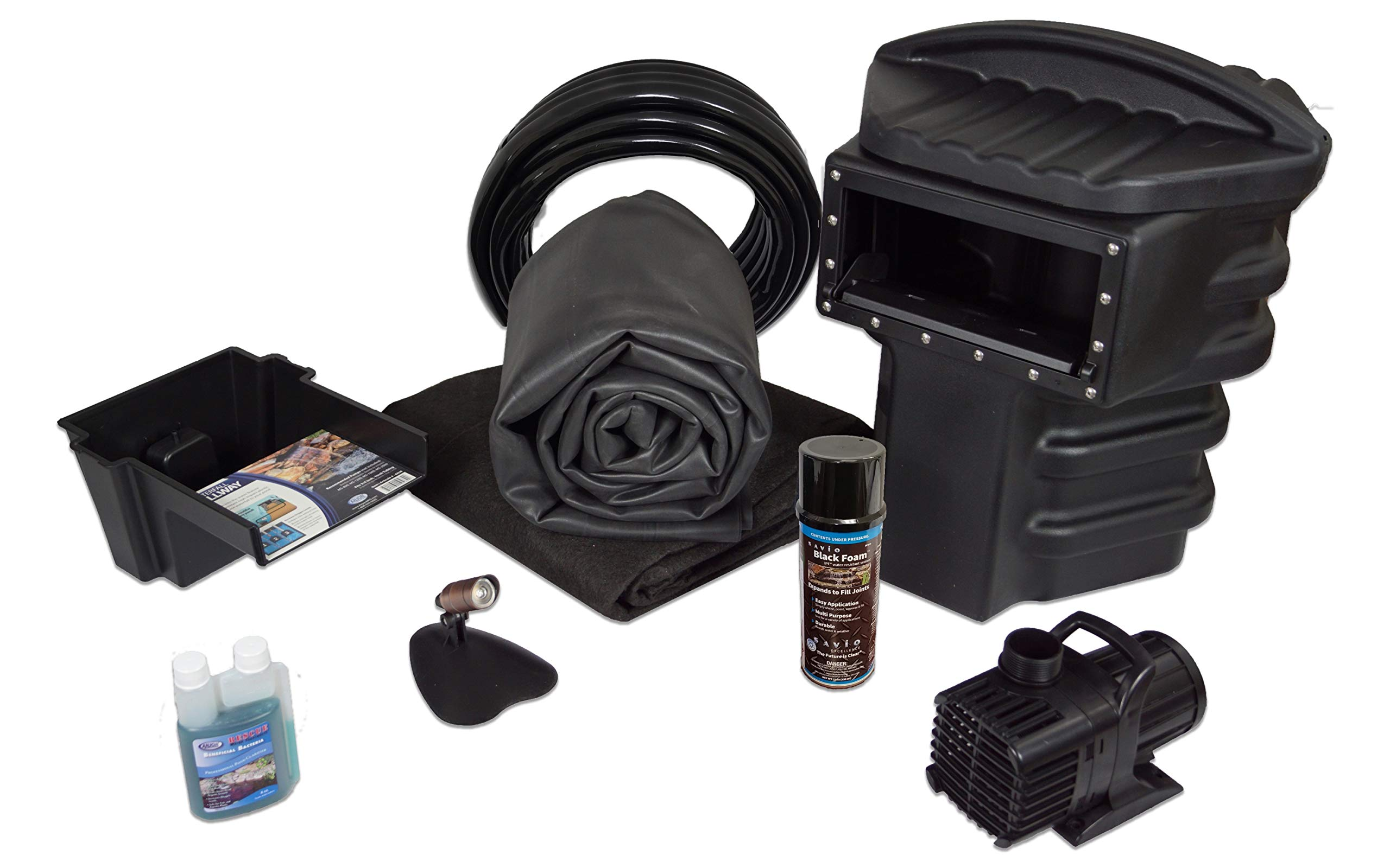Simply Ponds 1200 Water Garden and Pond Kit with 10 Foot x 15 Foot EPDM Liner