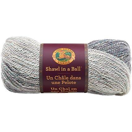 Lion Brand Yarn 828-300 Shawl in a Ball, Om Opal