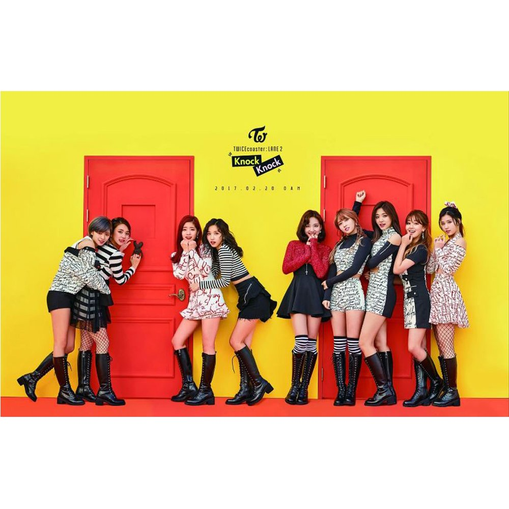 TWICE KPOP TWICEcoaster LANE2 [KNOCK KNOCK] SPECIAL Album CD + Photobook + Photocard + Sticker + Goods by JYP ENTERTAINMENT