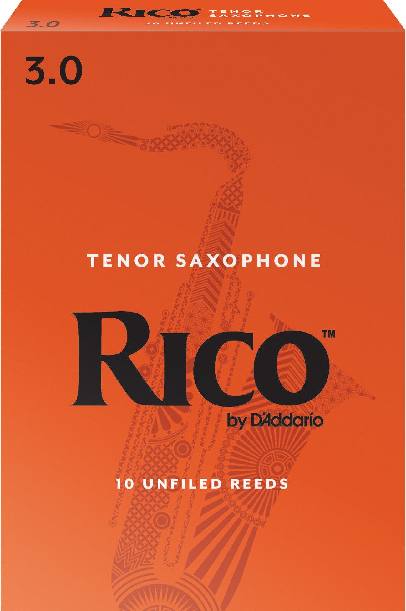 Rico by D'Addario RKA1030 Tenor Sax Reeds, Strength 3.0, 10-pack