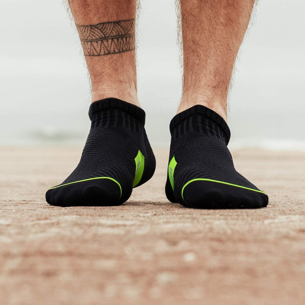 Ankle Cut Rockay Accelerate Anti-Blister Running Socks for Men and Women Cushion