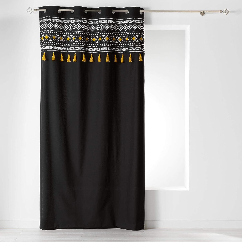COTON dintérieur Cortina con Ojales, 140 x 240 cm, algodón Liso ...