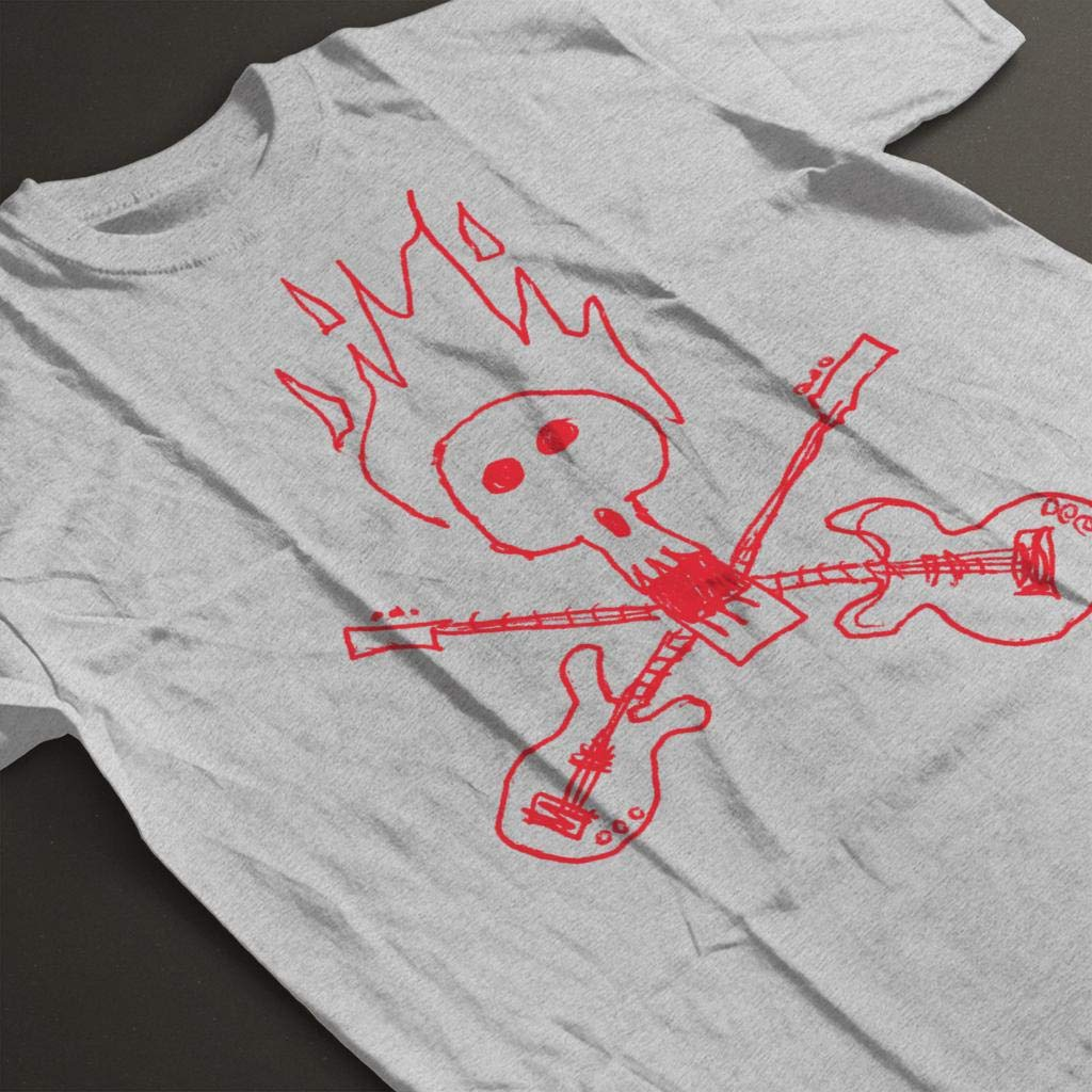Zits Red Guitar Skull Doodle Kids T-Shirt