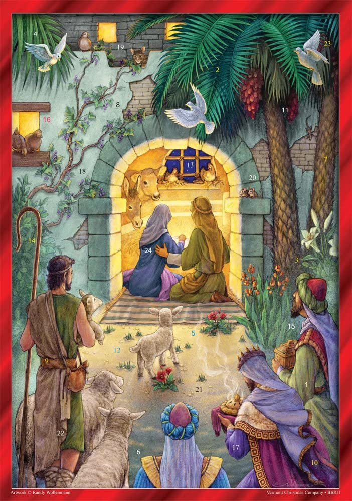 Vermont Christmas Company Peaceful Nativity Advent Calendar