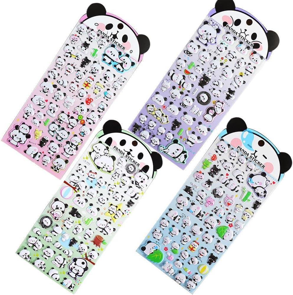 C-Pioneer 3D Cute Panda Diary Stamp Sticker DIY Album Decorative Stationery Stickers Scrapbooking Memo Pad Bubble Sticker