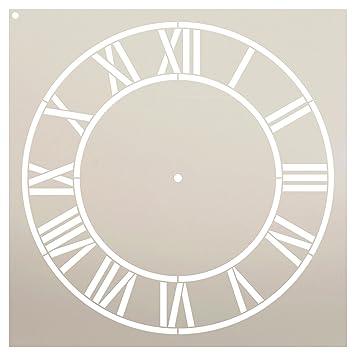 StudioR12 - Plantilla de reloj para el hogar con números ...