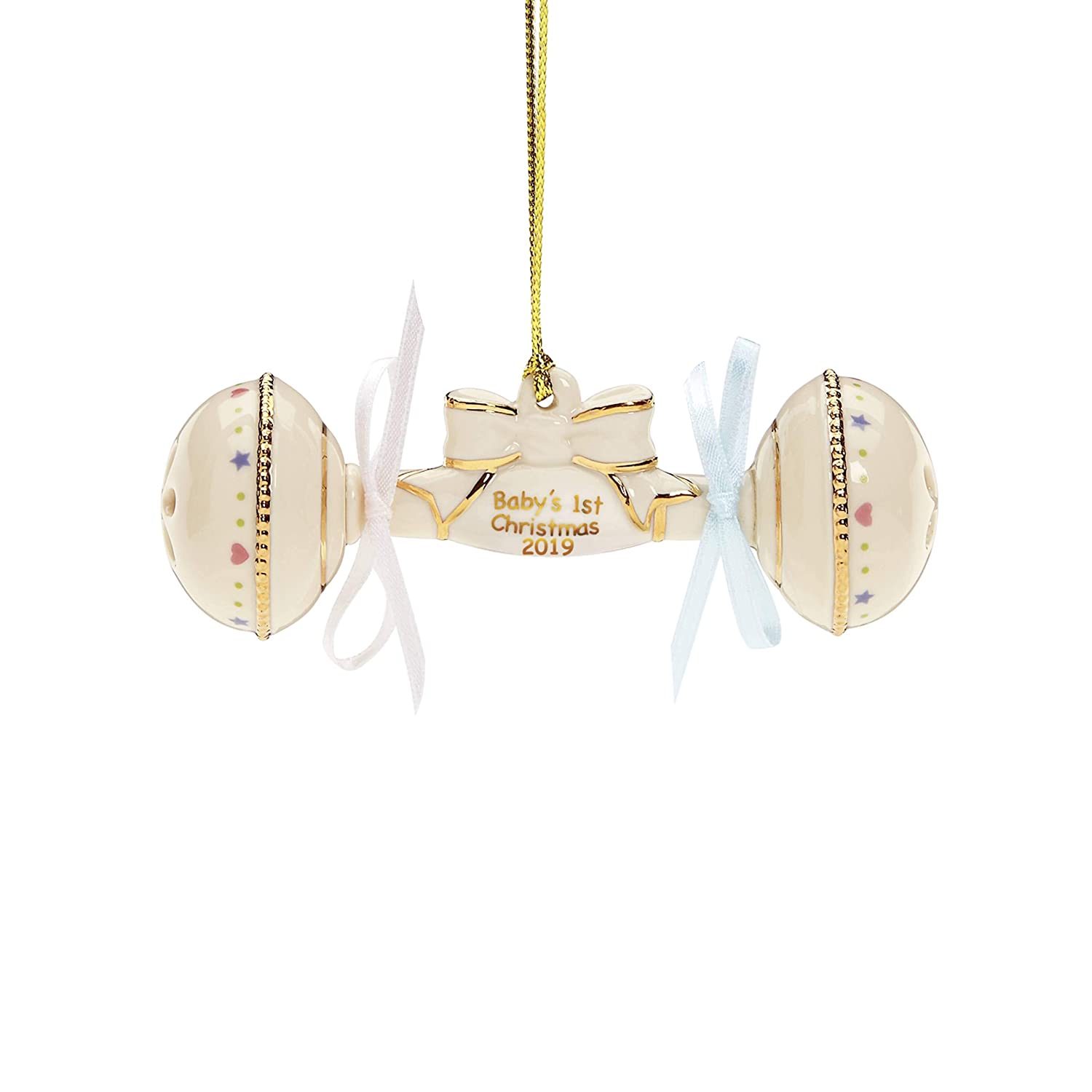 baby's first christmas 2019 rattle ornament