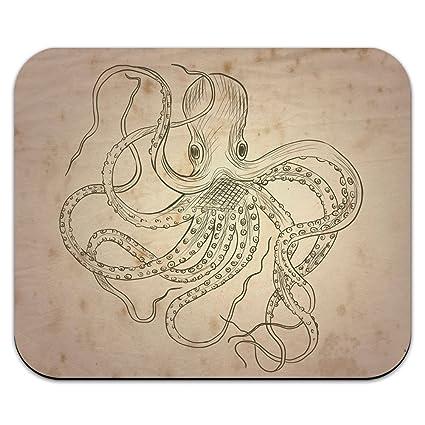 Vintage de tinta dibujados pulpo – monstruo marino tatuaje ratón Pad Alfombrilla de ratón