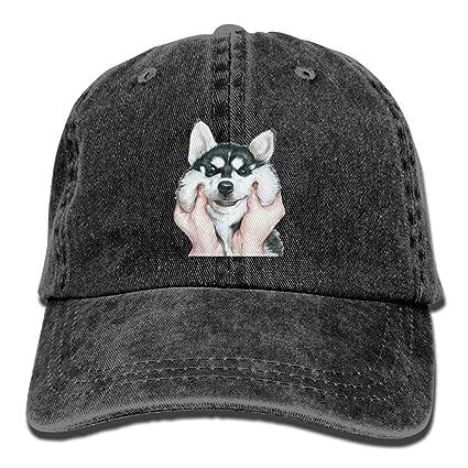 Voxpkrs Gorros de béisbol del Perro del Perro Esquimal Siberiano Sombreros Personalizados Perfil bajo Simples para